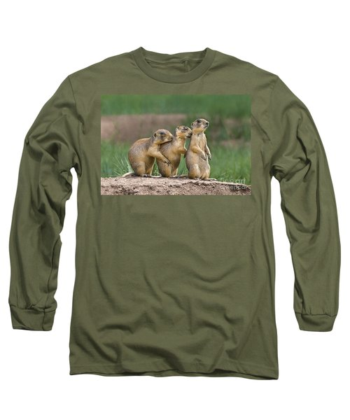 Long Sleeve T-Shirt featuring the photograph Relaxing Utah Prairie Dogs Cynomys Parvidens Wild Utah by Dave Welling