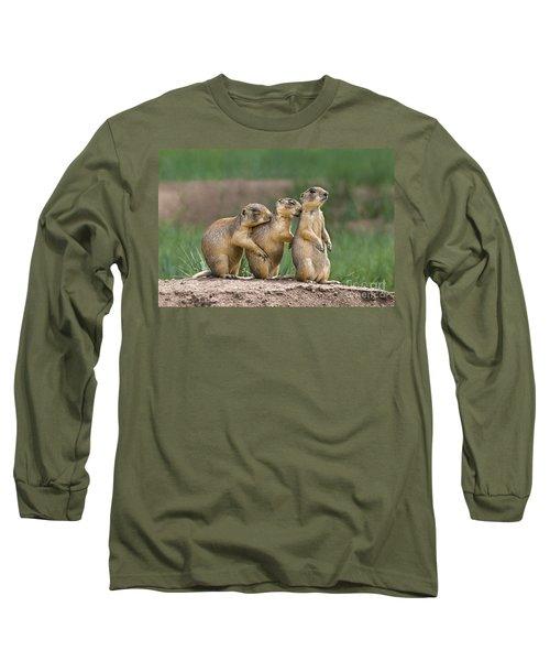 Relaxing Utah Prairie Dogs Cynomys Parvidens Wild Utah Long Sleeve T-Shirt
