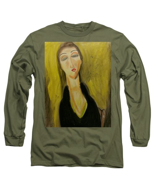 Sophisticated Lady With The Dreamy Eyes Long Sleeve T-Shirt
