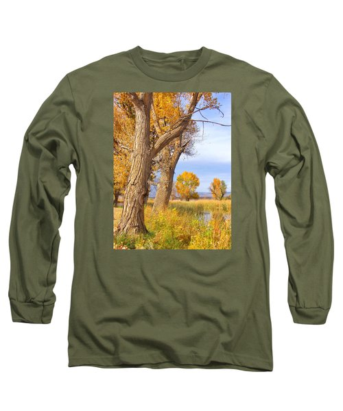 Long Sleeve T-Shirt featuring the photograph Remembering Autumn by Marilyn Diaz