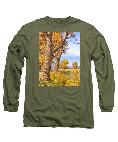 Remembering Autumn Long Sleeve T-Shirt by Marilyn Diaz