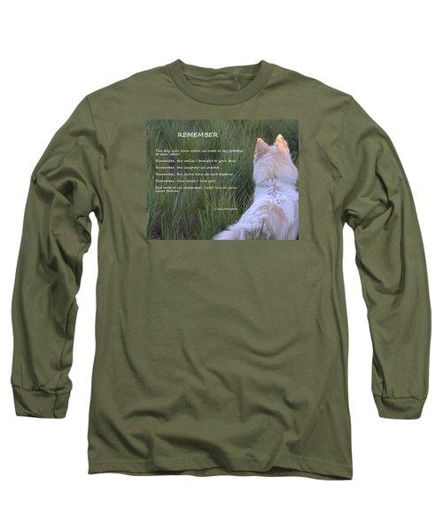 Remember Long Sleeve T-Shirt by Fiona Kennard