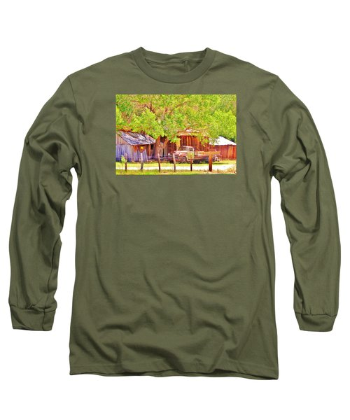 Long Sleeve T-Shirt featuring the photograph Retired by Marilyn Diaz