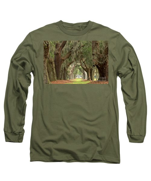 Retreat Avenue Of The Oaks Long Sleeve T-Shirt by Adam Jewell