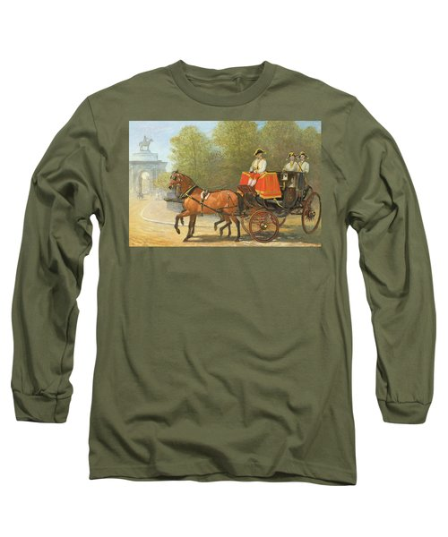 Returning From Her Majestys Drawing Room Long Sleeve T-Shirt by Alfred Corbould