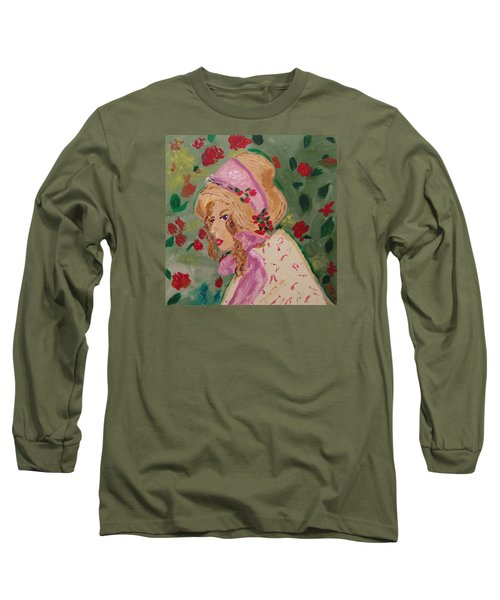 Long Sleeve T-Shirt featuring the painting Ribbons And Roses by Mary Carol Williams