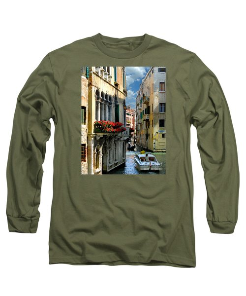 Long Sleeve T-Shirt featuring the photograph Rio Menuo O De La Verona. Venice by Jennie Breeze