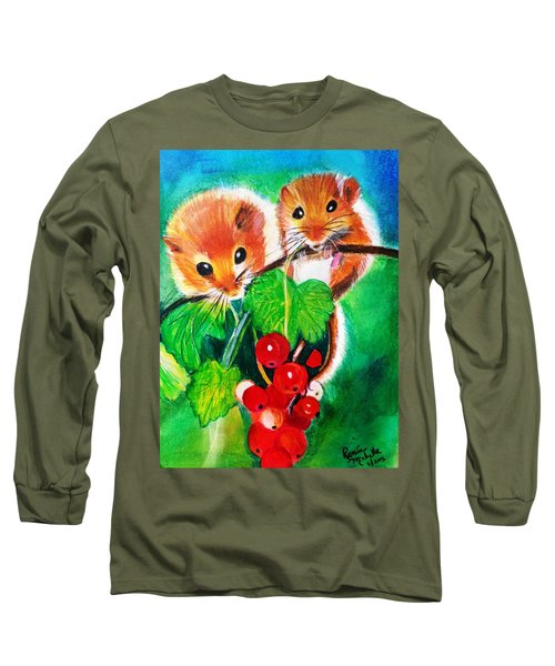 Ripe-n-ready Cherry Tomatoes Long Sleeve T-Shirt by Renee Michelle Wenker