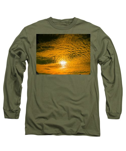 Ripples In The Sky Long Sleeve T-Shirt by Nick Kirby