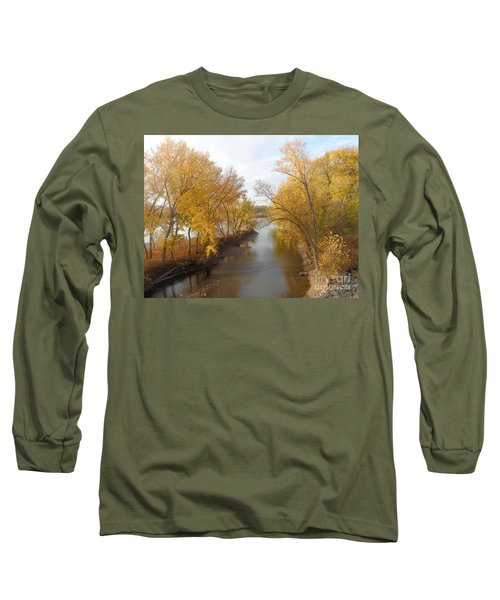 River And Gold Long Sleeve T-Shirt by Christina Verdgeline