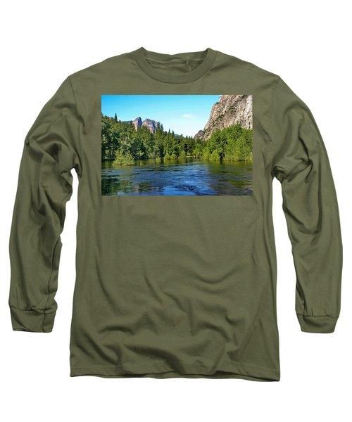 Yosemite National Park Long Sleeve T-Shirt by Menachem Ganon