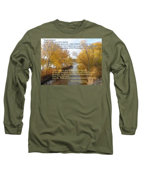 River Of Joy Long Sleeve T-Shirt by Christina Verdgeline