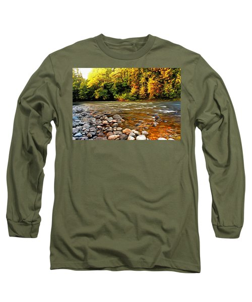 Long Sleeve T-Shirt featuring the photograph River Sunset by Michael Cross