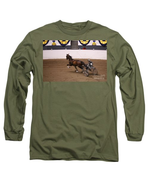 Long Sleeve T-Shirt featuring the photograph Road Pony At Speed by Carol Lynn Coronios
