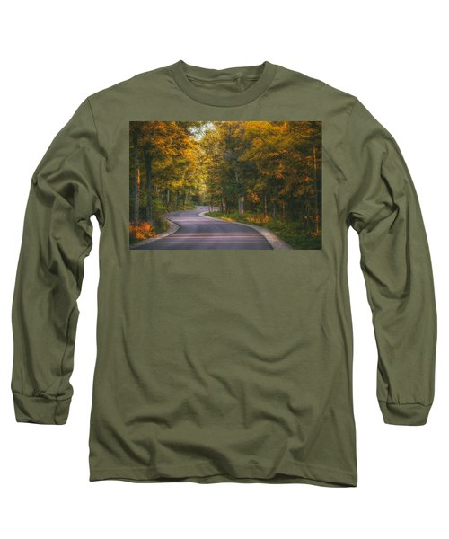 Road To Cave Point Long Sleeve T-Shirt