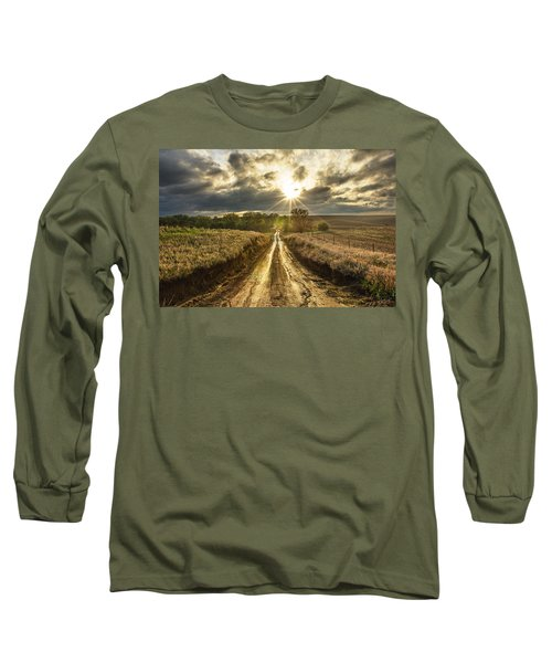 Road To Nowhere Long Sleeve T-Shirt by Aaron J Groen