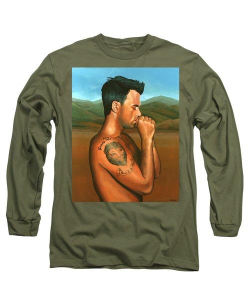 Robbie Williams 2 Long Sleeve T-Shirt by Paul Meijering