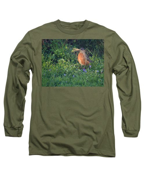 Robin Gathering For Nest Long Sleeve T-Shirt