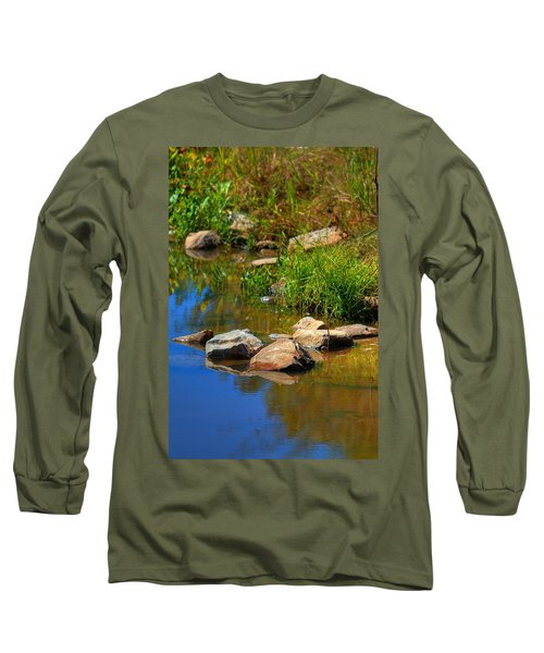 Long Sleeve T-Shirt featuring the photograph A Clear Reflection by Ester  Rogers