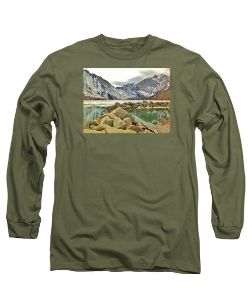 Long Sleeve T-Shirt featuring the photograph Rocks by Marilyn Diaz