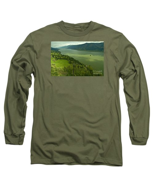 Long Sleeve T-Shirt featuring the photograph Roll On Columbia Roll On by Nick  Boren