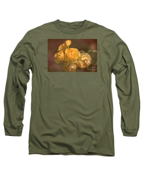 Romantic Roses Long Sleeve T-Shirt by Joy Watson