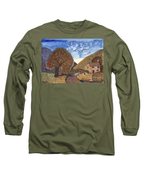 Long Sleeve T-Shirt featuring the painting Romantic Walk by Tracey Williams