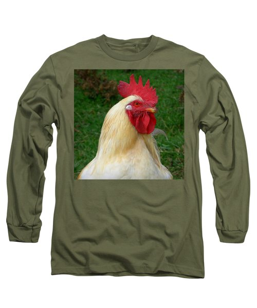 Rooster Cogburn Long Sleeve T-Shirt by Joseph Skompski
