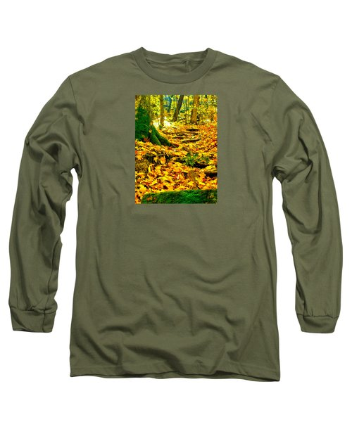 Root Steps Long Sleeve T-Shirt by Zafer Gurel