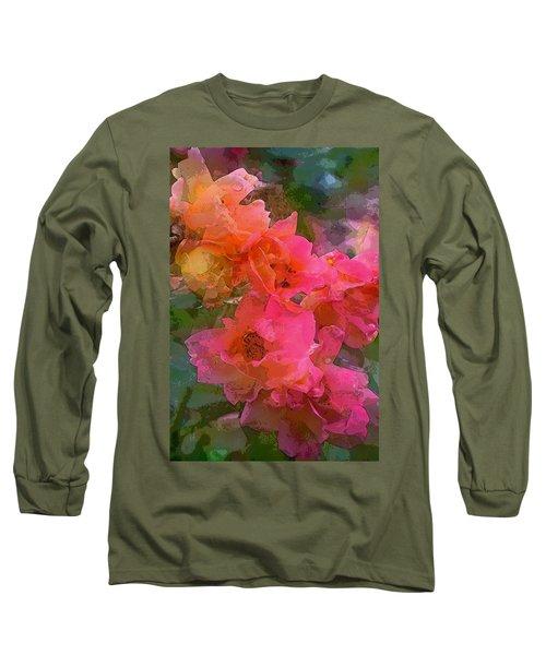 Rose 219 Long Sleeve T-Shirt by Pamela Cooper
