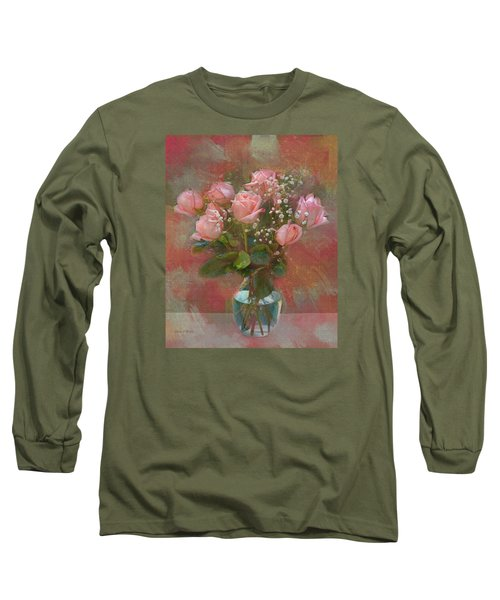 Rose Bouquet Long Sleeve T-Shirt by Sandi OReilly