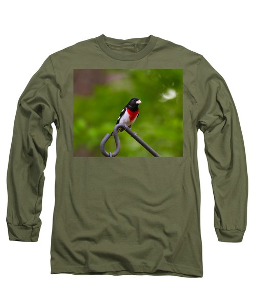 Rose Breasted Grosbeak Long Sleeve T-Shirt