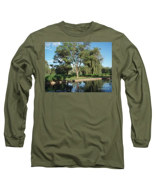 Long Sleeve T-Shirt featuring the photograph Rose Garden  by Jeannie Rhode