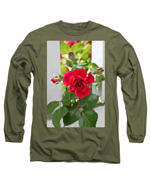 Long Sleeve T-Shirt featuring the photograph Roses Are Red by Joann Copeland-Paul