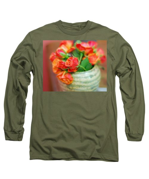 Long Sleeve T-Shirt featuring the photograph Roses by Lisa Phillips