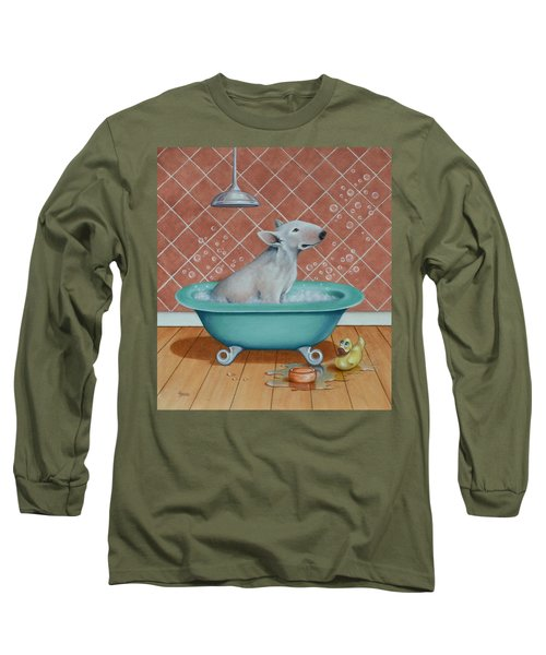 Long Sleeve T-Shirt featuring the painting Rosie In The Bliss Bubbles by Cynthia House