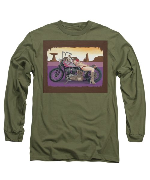 Rosie The Pitbull Pinup Long Sleeve T-Shirt