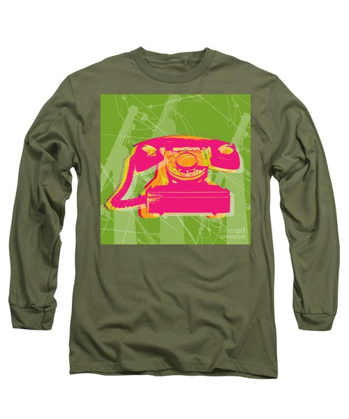 Rotary Phone Long Sleeve T-Shirt by Jean luc Comperat