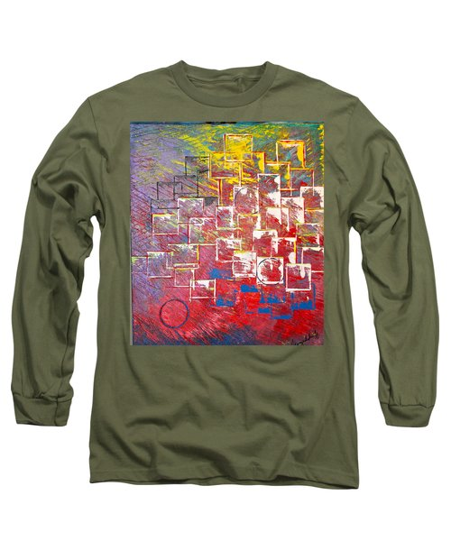 Round Peg Long Sleeve T-Shirt by George Riney