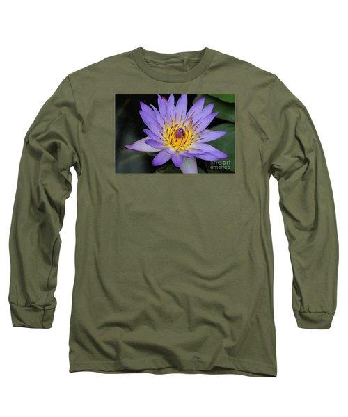 Royal Purple Water Lily #4 Long Sleeve T-Shirt