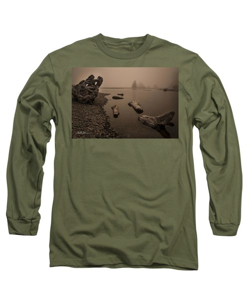Ruby Beach Fog Long Sleeve T-Shirt