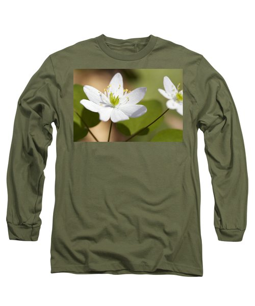 Rue Anemone Long Sleeve T-Shirt by Melinda Fawver