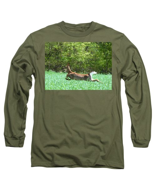 Run Forest Run Long Sleeve T-Shirt by Neal Eslinger