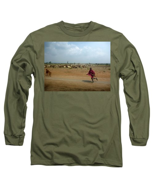 Running Boy Long Sleeve T-Shirt