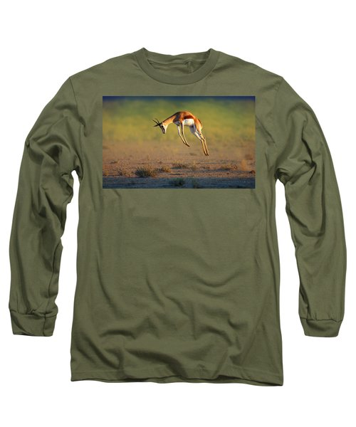 Running Springbok Jumping High Long Sleeve T-Shirt