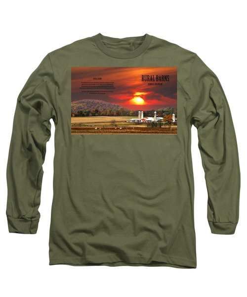 Long Sleeve T-Shirt featuring the photograph Rural Barns  My Book Cover by Randall Branham