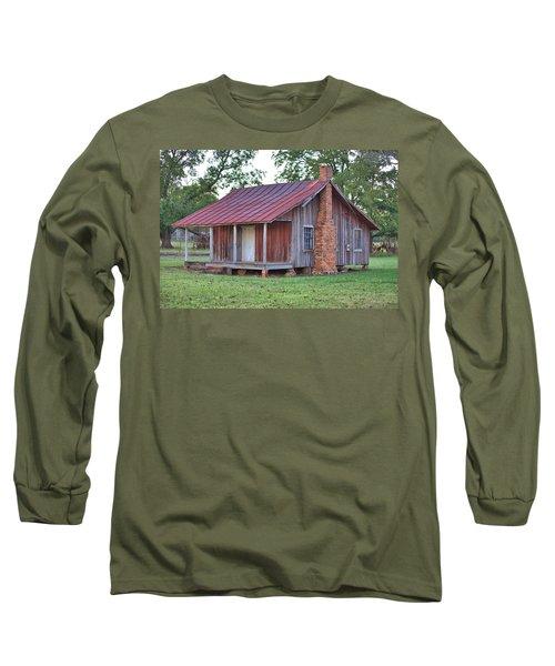 Long Sleeve T-Shirt featuring the photograph Rural Georgia Cabin by Gordon Elwell