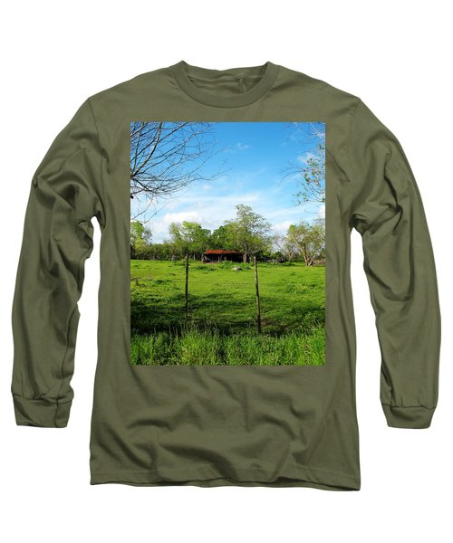 Rustic Land Of Beauty - Rural Texas Long Sleeve T-Shirt