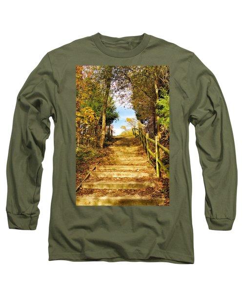 Rustic Stairway Long Sleeve T-Shirt