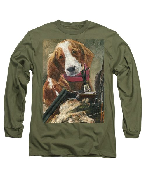 Rusty - A Hunting Dog Long Sleeve T-Shirt by Mary Ellen Anderson